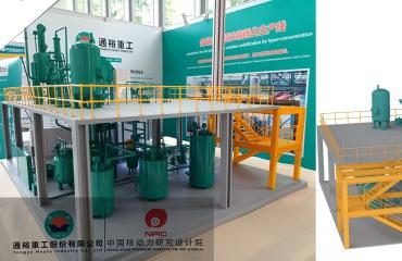 通裕重工&中国核动力研究院含硼废液固化生产线模型