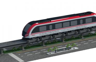 中铁工业1:12磁悬浮列车展示模型案例